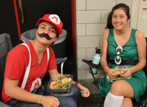 Students pair up for Dynamic Duo day.