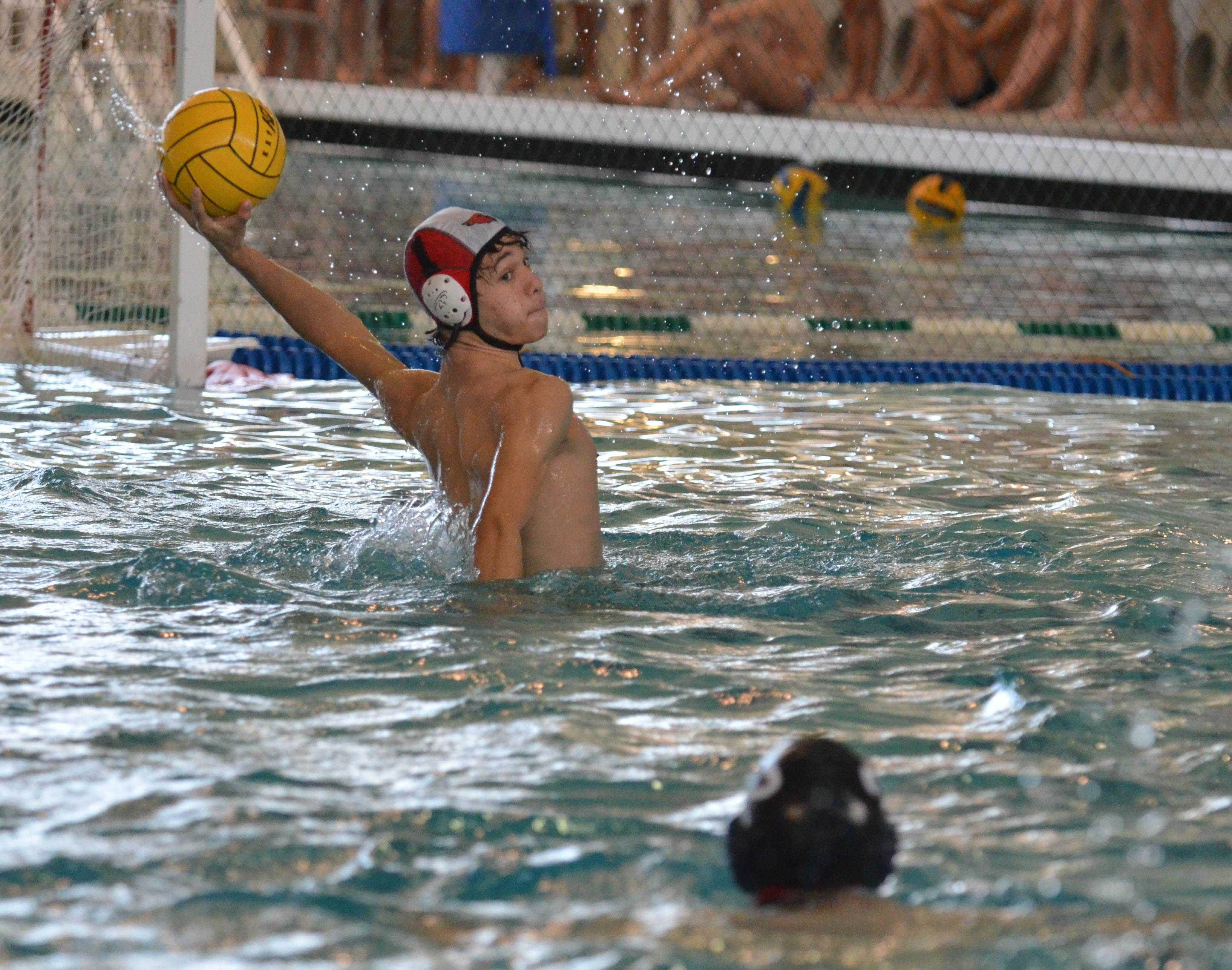 Junior Lee Longley shoots for a goal during a match at the Tualitan Tournament in early October.