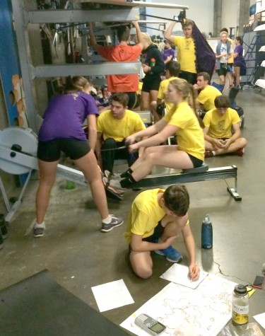 Rowers map strategy to conquer cities as they engage in a six-hour rowathon Oct. 15.