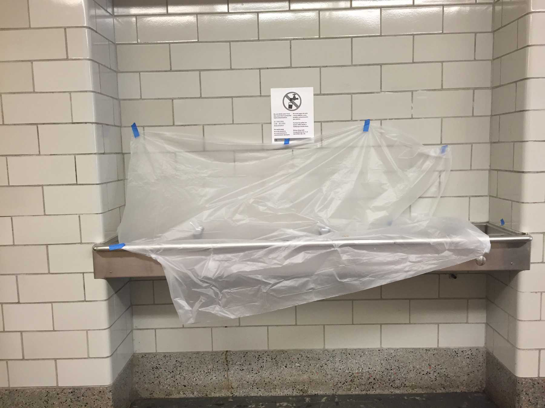 School Bathroom Fixtures the cardinal times : unsafe lead levels at lincoln mean fountains