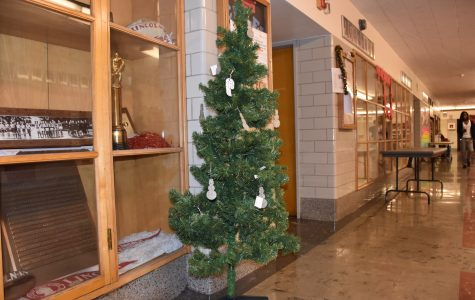 The main hall Christmas tree may be small, but its symbolic significance is large.