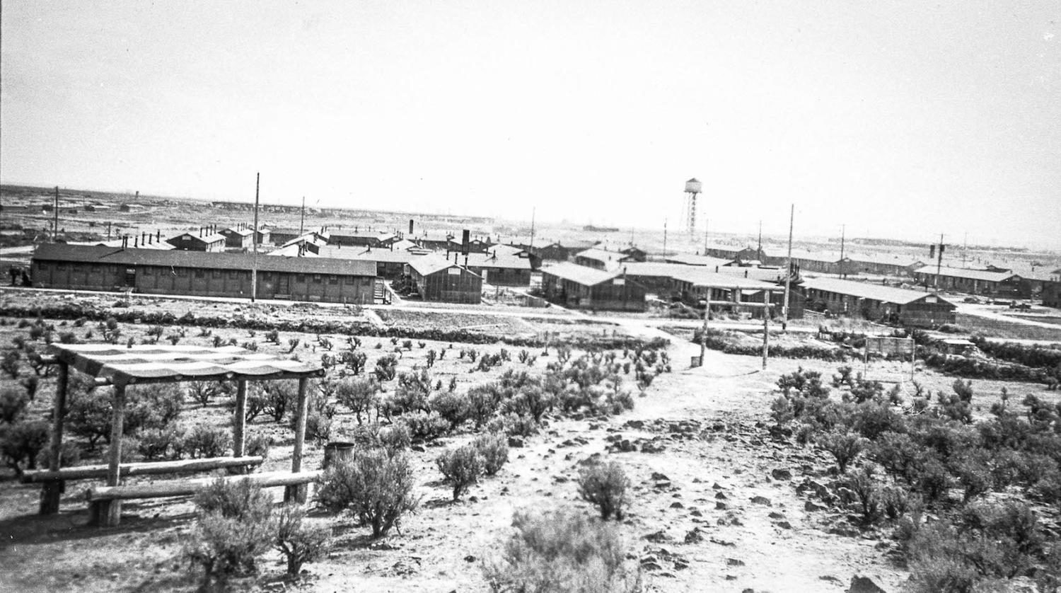 The Mindoka internment camp in southern Idaho, where 49 Lincoln students were taken during World War Two.  Courtesy Densho Digital Repository
