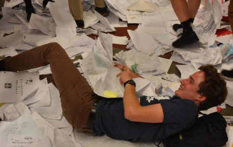 Seniors toss papers as final bell rings (gallery)