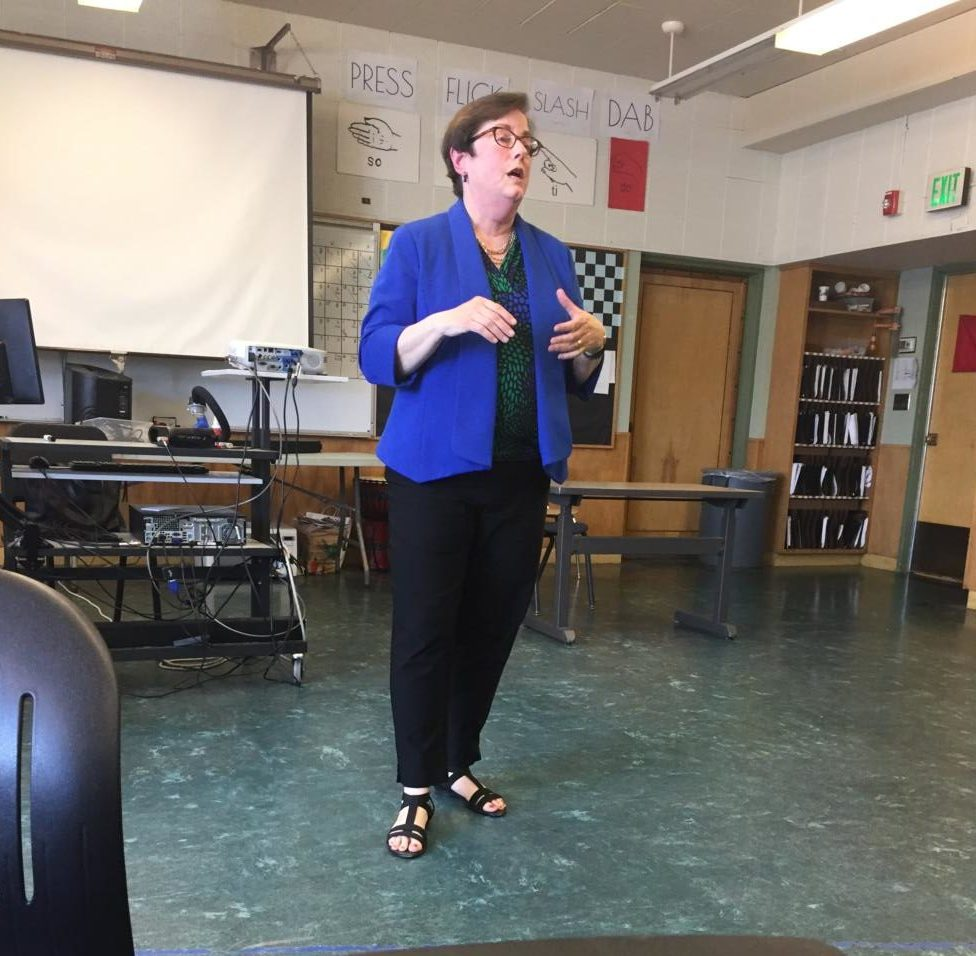 Judge Susan Graber speaks to students on May 23.
