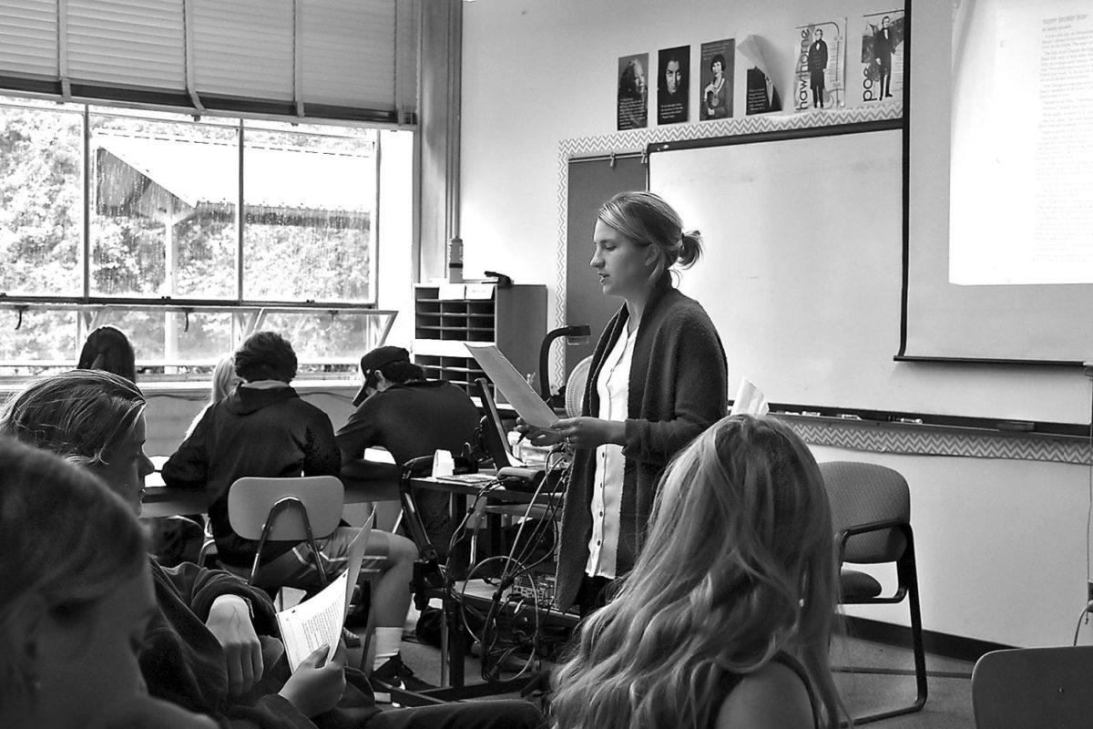 English Teacher Maureen Fitzgerald and social studies teacher Sara Matano both taught at Lincolns feeder middle school, West Sylvan, last year.