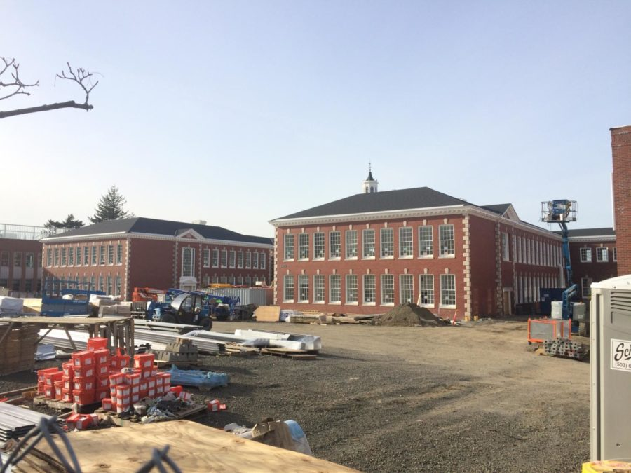 Franklin+High+School+under+construction+this+past+April.+The+renovation+was+funded+by+the%0A2012+PPS+school+modernization+bond+and+the+renovated+building+opened+this+fall.