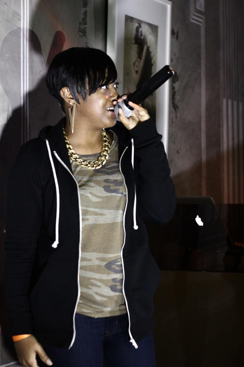 "Emerging rapper Marlanna Evans, known as Rapsody, recently released an album called ""Laila's Wisdom."""