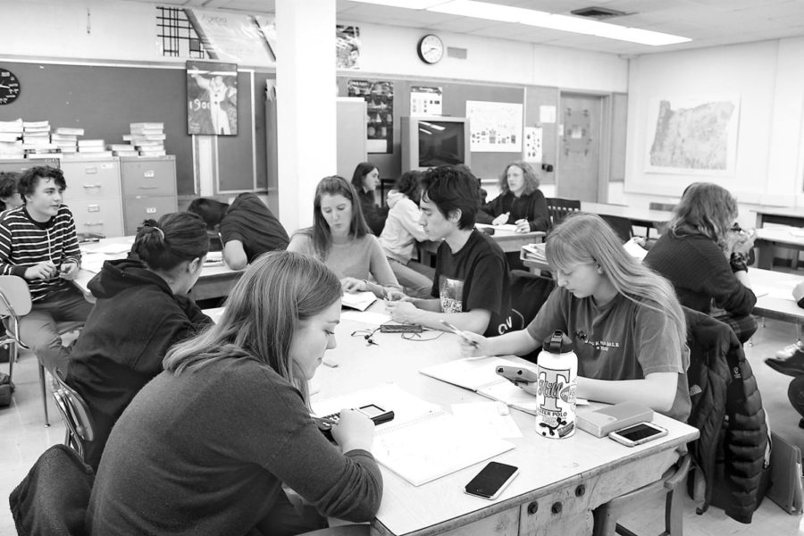 Many IB Math classes, such as the one pictured above, have more males than females. IB English classes, on the other hand, tend to be majority female. This disparity can have lasting consequences in terms of stereotypes and biases.