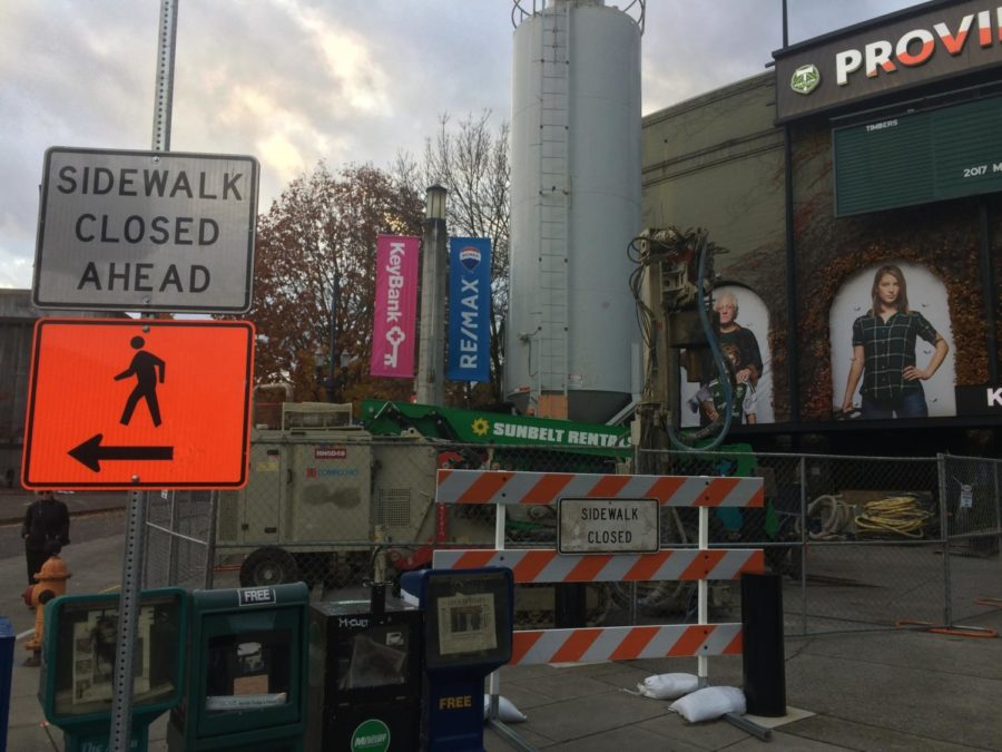 Constuction on an expansion of the Portland Timbers stadium, Providence Park, began on Nov. 5.