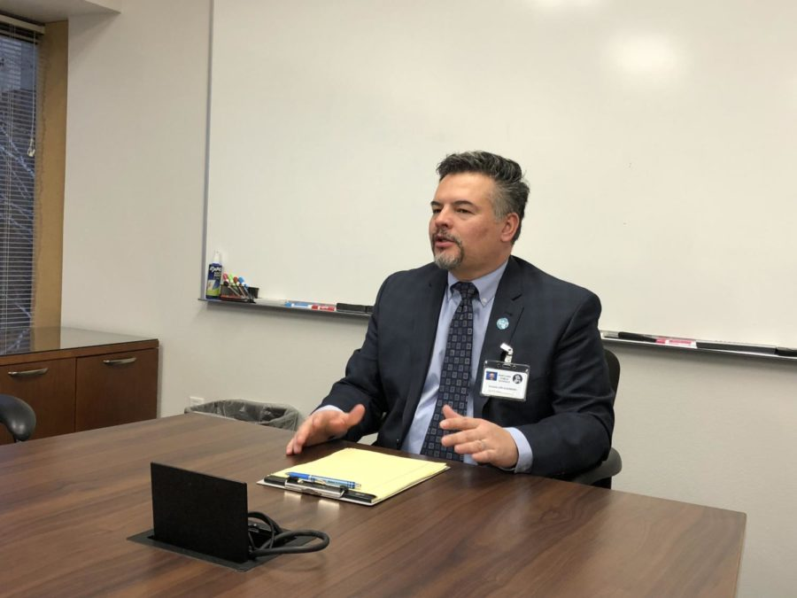 Superintendent Guadalupe Guerrero speaks during a press conference at PPS Headquarters on Dec 14. Guerrero took over the district's top position in October.