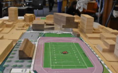 3-D model of the new school.