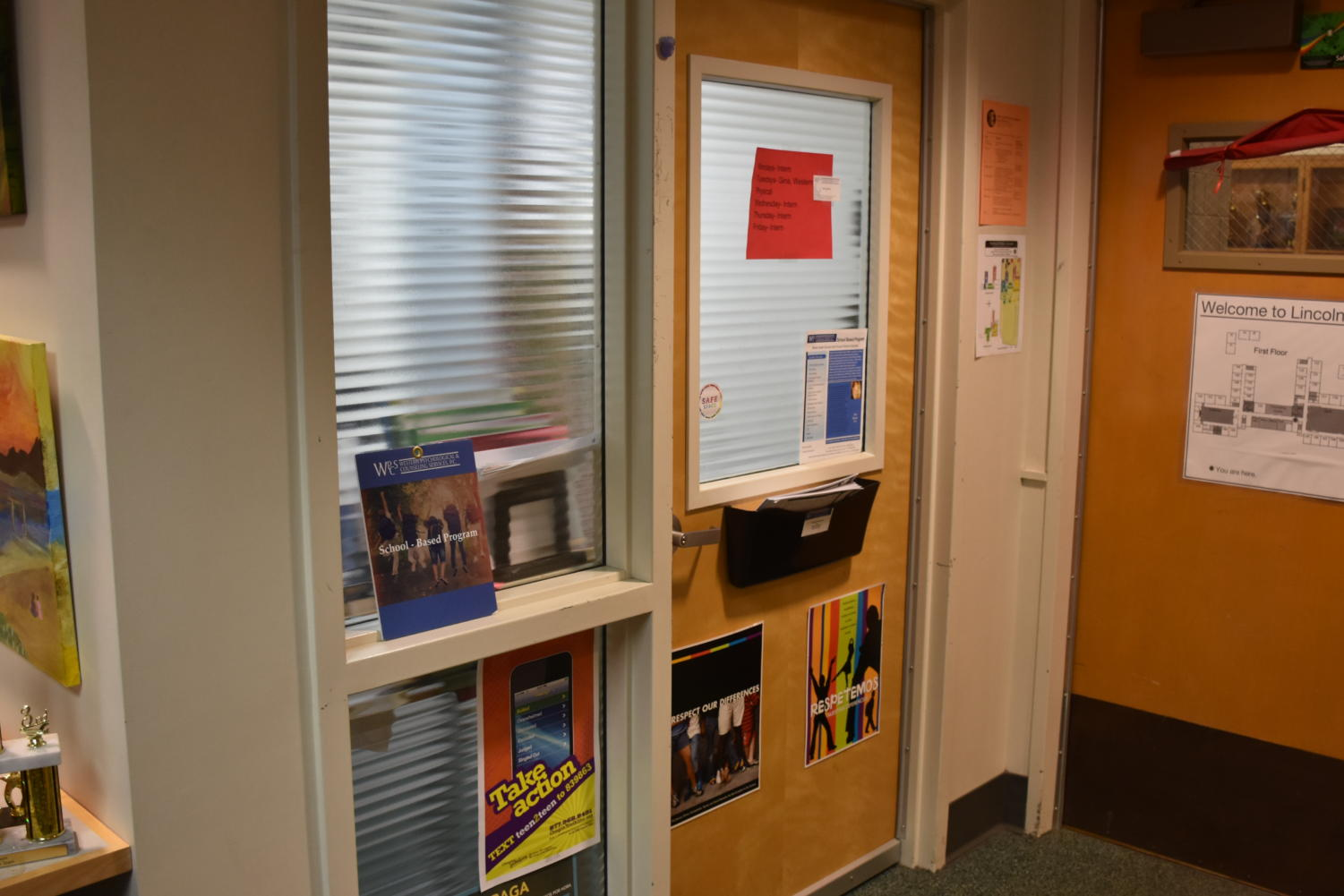 This office in the counseling center is home to two mental health support professionals, Gina Batliner and Judy Herzberg. They are resources for students who experience sexual misconduct by teachers.