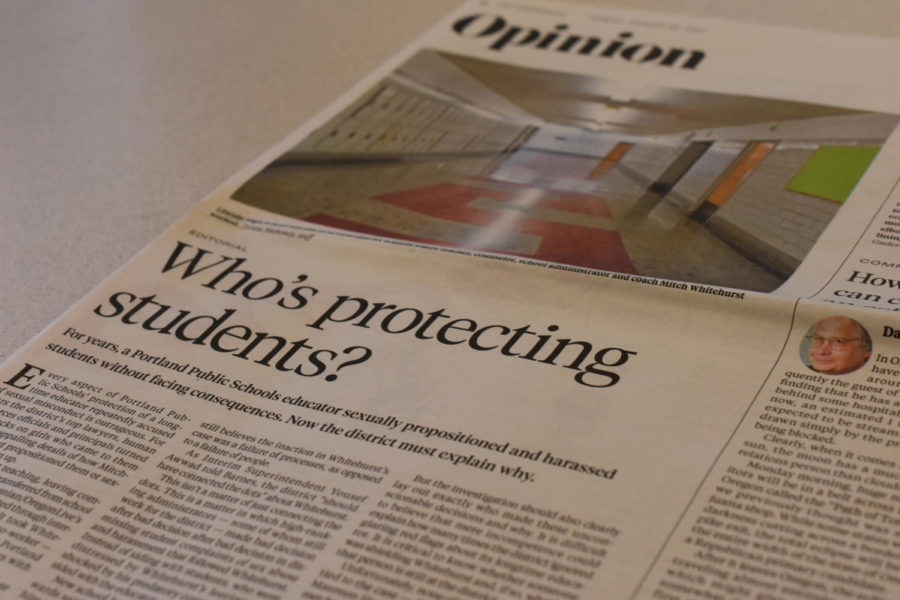 An Oregonian editorial on Aug. 20, 2017 featured a photo of Lincoln and questioned whether PPS is doing enough to protect its students from teachers who commit sexual misconduct.