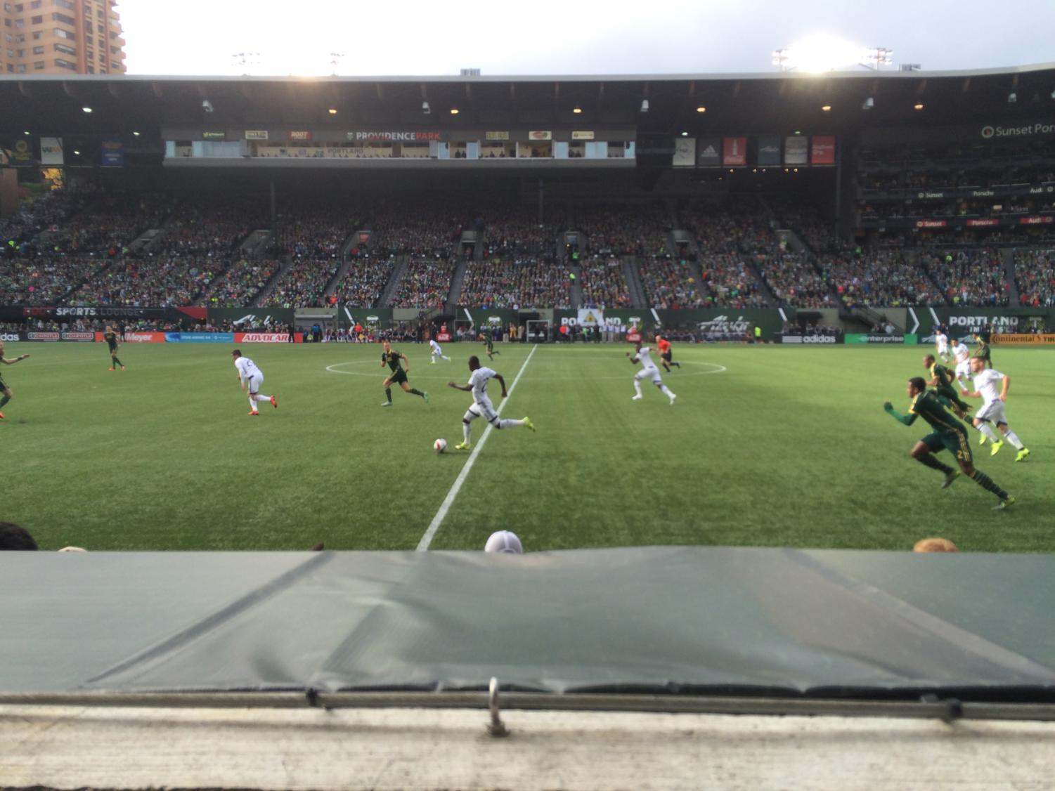 Timbers play at Providence Park before renovations.