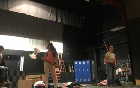 "Actors rehearse for ""She Kills Monsters"""
