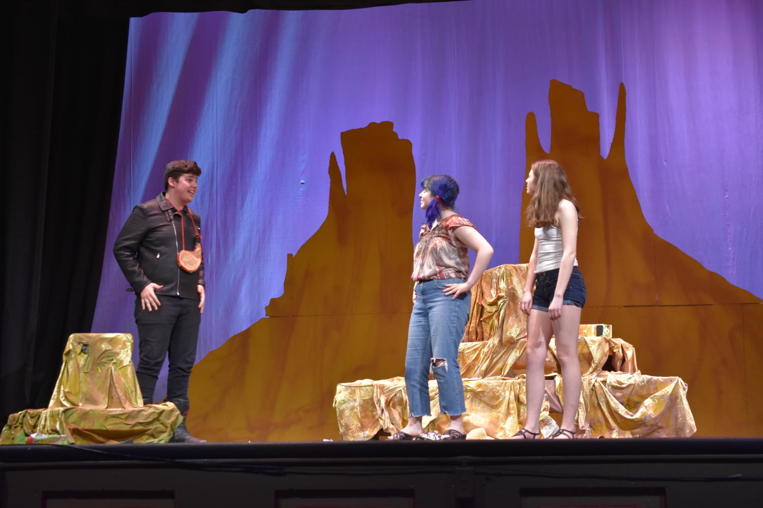 Students perform during the drama department's one-act festival on Feb 21. The student-directed one-acts ran for six nights in February and March.