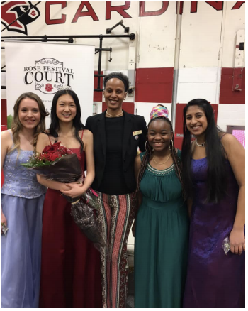 Robin Marks visited this year for the crowning of this year's Rose Princess, Sophia Zhang, reflecting on her time at Lincoln and as Rose Queen.