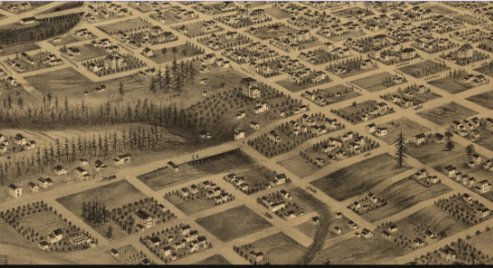 Kamm House and Tanner Creek in 1880s is now the current land that Lincoln is located.