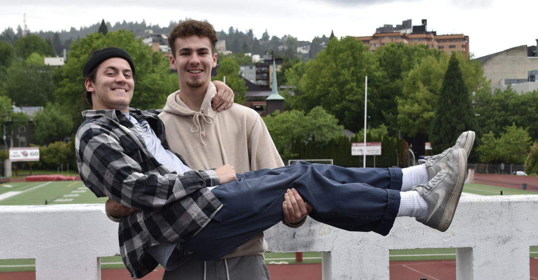 Long time reporters, Alex Paskill and Scotty Martin have been childhood friends and have worked together on the Cardinal Times publishing articles, photojournalism pieces and videos together throughout their time on the staff.