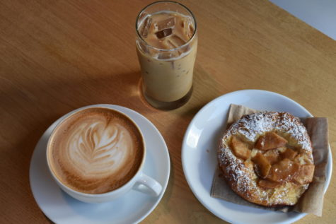 Lattes and pastries at Coava are a great after school study snack.