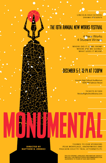 Monumental+is+a+collection+of+plays+written+by+Lincoln+students.