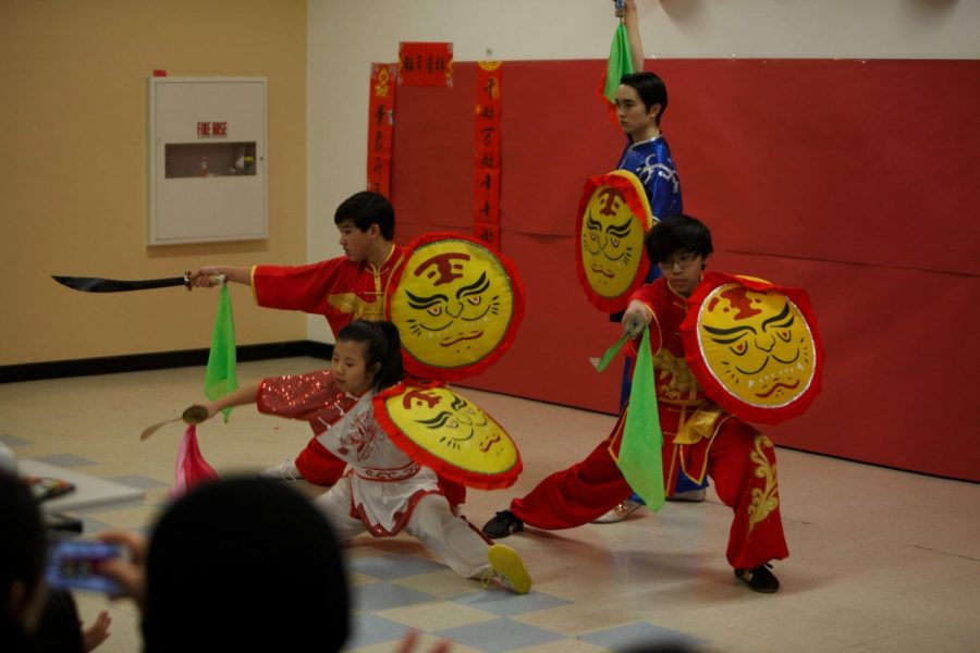 Martial+arts+students+perform+at+the+2019+Lunar+New+Year+celebration.