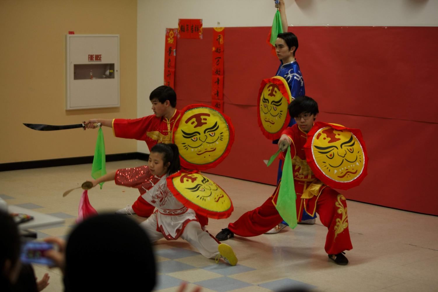 Martial arts students perform at the 2019 Lunar New Year celebration.