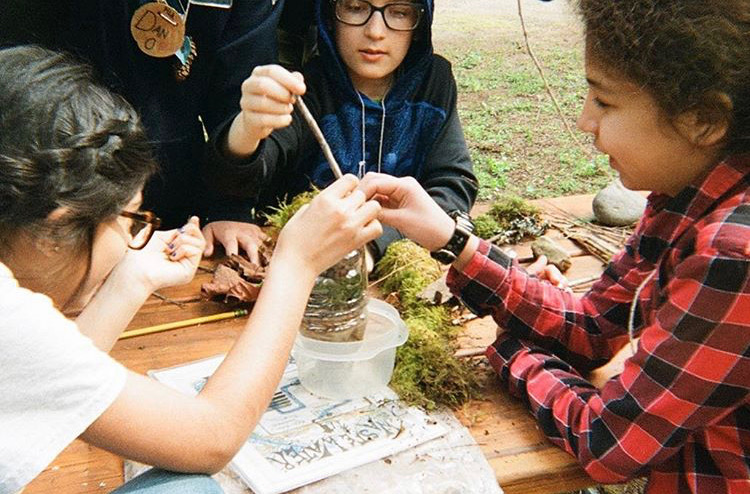 Students+experiment+with+plants+during+Outdoor+School+at+Camp+Angelos+in+April+2019.+Lincoln+students+have+praised+Outdoor+School+for+providing+a+great+opportunity+for+leadership+and+fun.