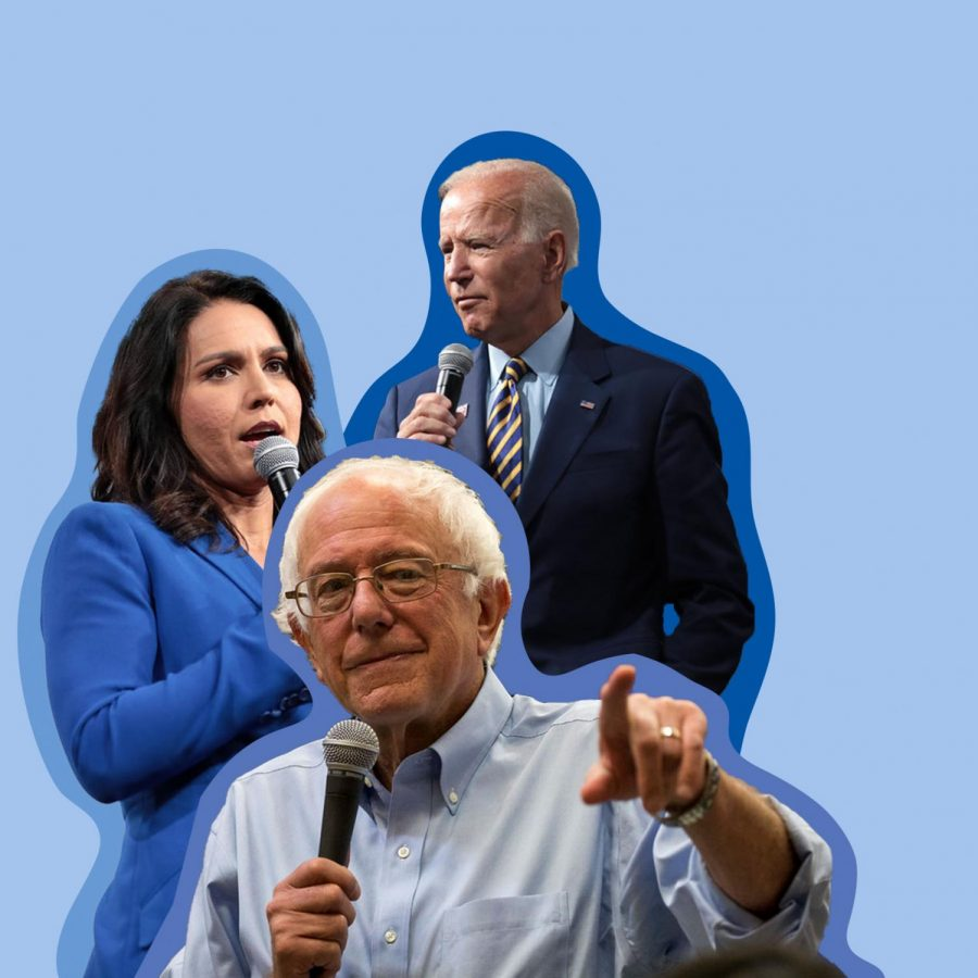 Three+Democratic+candidates%2C+pictured+in+the+graphic+above+above+%28LEFT+TO+RIGHT%3A+Representative+Tulsi+Gabbard%2C+Senator+Bernie+Sanders%2C+and+Vice+President+Joe+Biden%29%2C+are+left+in+the+race+for+the+nomination.+