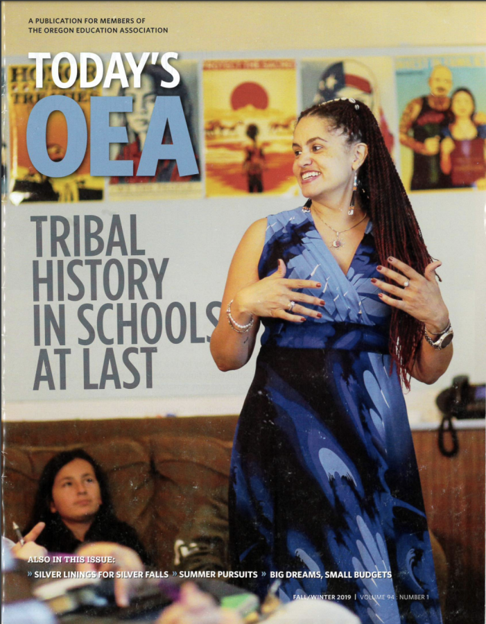 The+Today%27s+OEA+Magazine+cover+from+Fall%2FWinter+2019+features+information+on+how+Oregon+schools+will+finally+teach+Tribal+history.