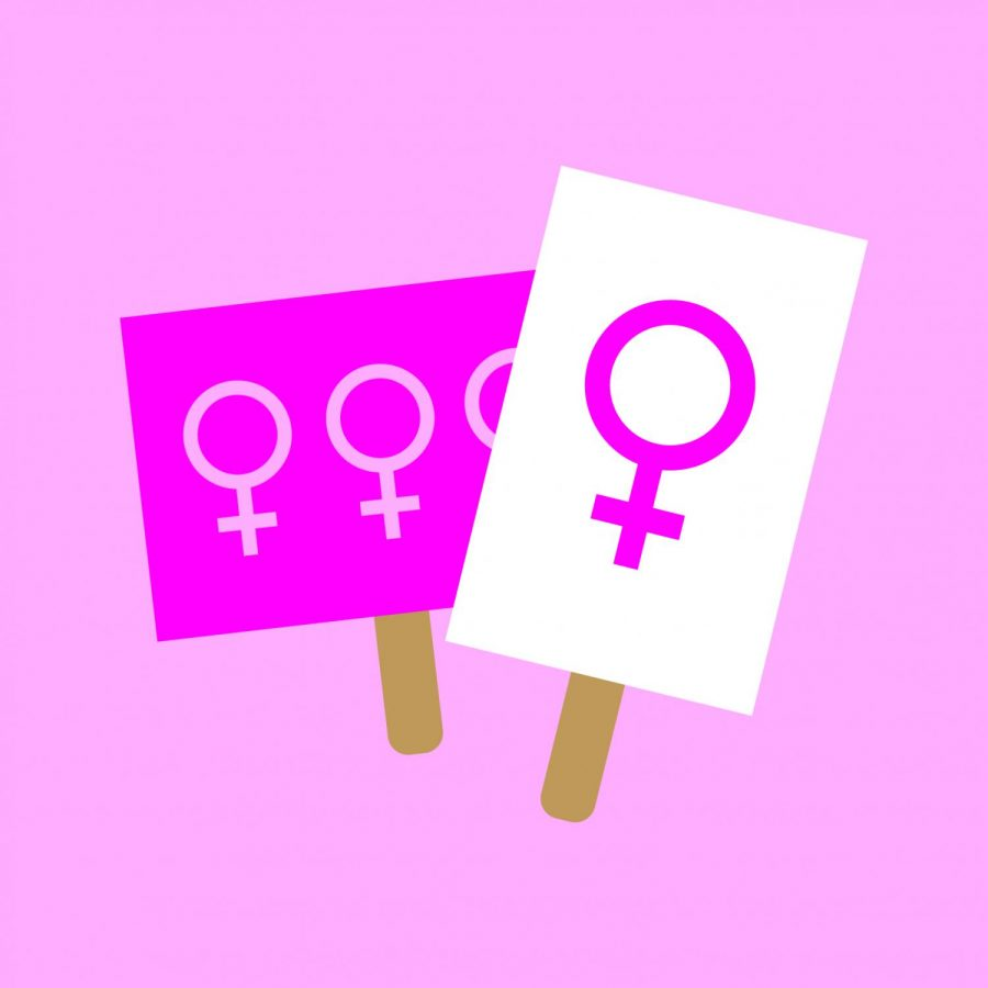 The international female symbol, pictured above. March was International Women's Month and saw people all over the globe push for gender equity.