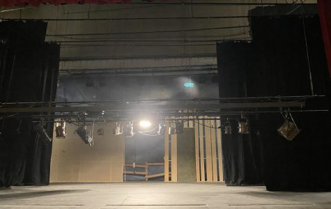 A photo from the set of Lincoln's production of