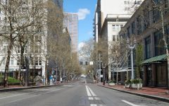 Downtown streets, usually notorious for their traffic, have gone quiet since Governor Kate Brown issued stay-at-home orders in March.