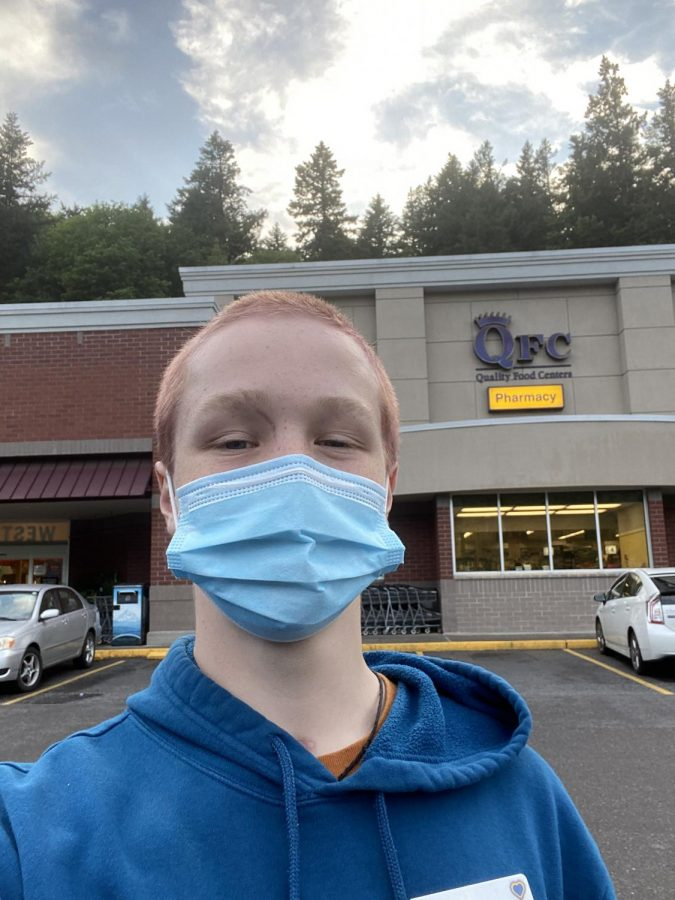 Sophomore Matthew Imdieke is working at QFC during the pandemic, interacting with more than 100 people per day.