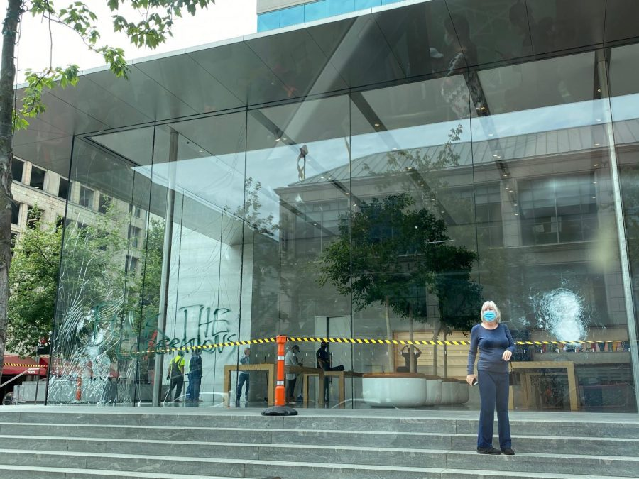 The Apple Store near Pioneer Place was broken into and looted during Friday protests.