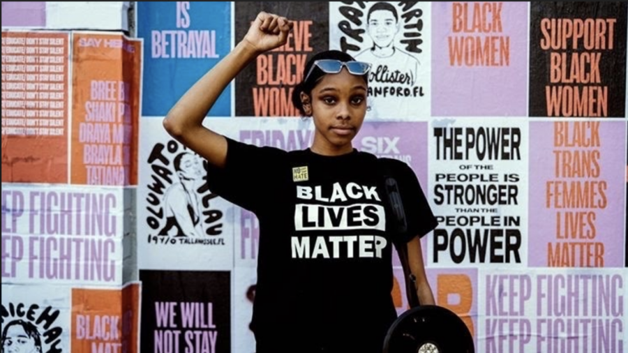 "Junior Janiah Casey spent her summer protesting for the Black Lives Matter movement (read more here). When reflecting on the current election, Casey recognizes the impact that a Trump re-election could have on the BIPOC community. ""But for me, I'm just nervous,"" Casey reflects, ""because either way, if Trump gets re-elected or if Biden wins this presidential election, [I think] the world is going to turn upside down ... and most importantly, the BIPOC community will become a target no matter what. This is exactly why I am so concerned for my community and why this election affects my BIPOC group. We have to fight together, and do it as a whole."""