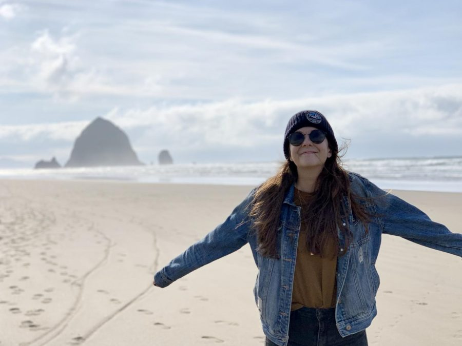 Sarah Bestor, pictured at Cannon Beach, is a new math and Avid teacher at Lincoln.