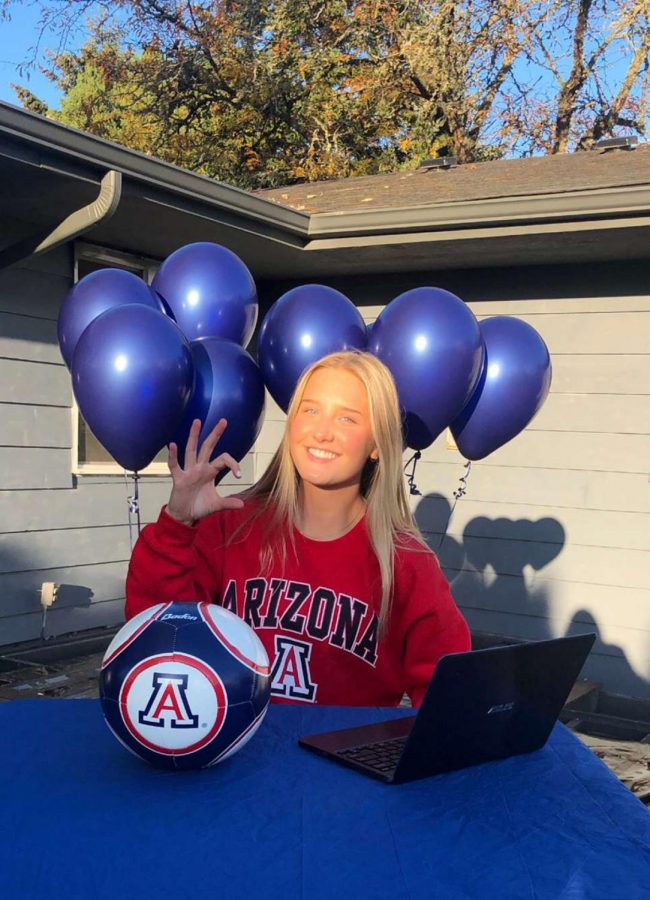 Jolie Maycumber committed to the University of Arizona to play soccer after she graduates.