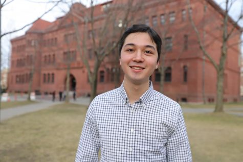 Lincoln alum James Bikales poses at Harvard University. Bikales was recently named the new managing editor of The Harvard Crimson, which is the nation