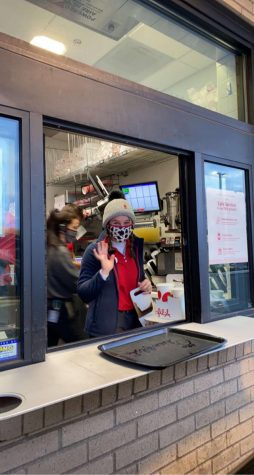 Ashley Siegel has been working at Chick-fil-a for the past couple of months during the covid-19 pandemic.