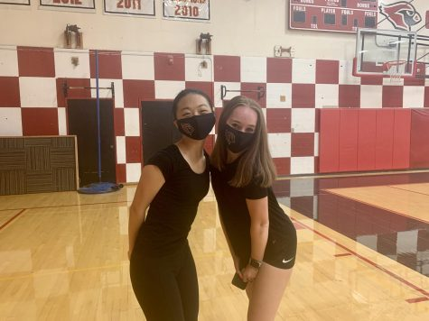 Sometimes on Zoom, other times in person, the teams practice schedule keeps changing based on Governor Browns latest COVID-19 restrictions. All the changes have posed some challenges for the freshmen dancers both physically and socially.