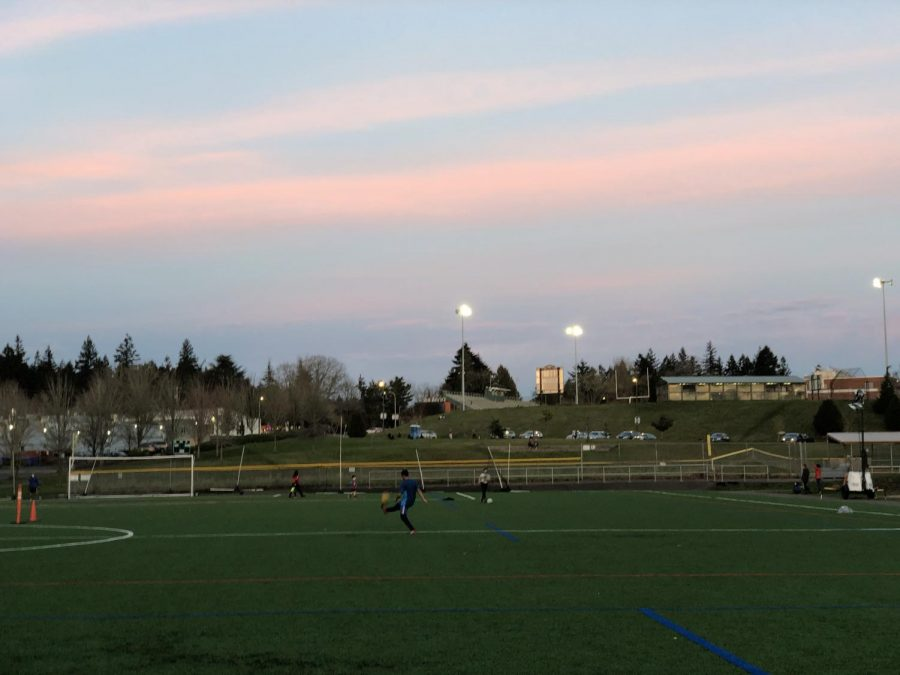 """With the Lincoln field gone to make way for construction of the new school, many students participating in sports have gone to Rieke Elementary. Junior Xander Levine has some concerns. """"Sometimes there's too many people for my liking"""" says Levine."""