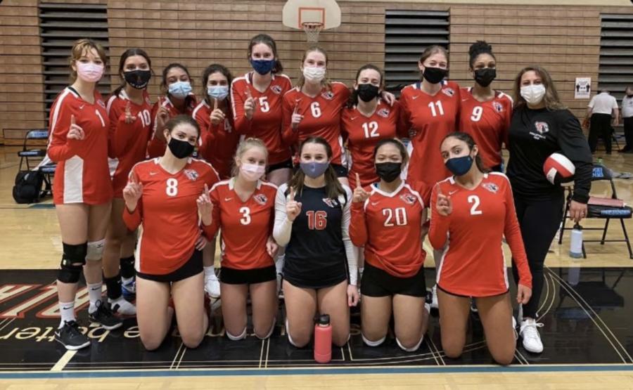 Lincolns 2021 girls varsity volleyball team.