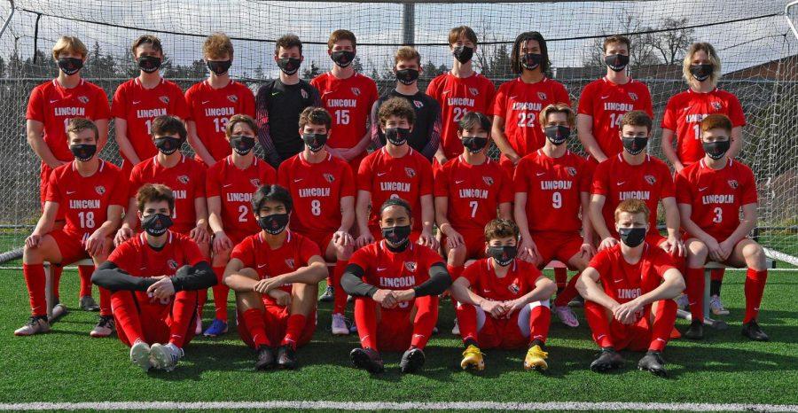 Lincoln 2021 boys varsity soccer team