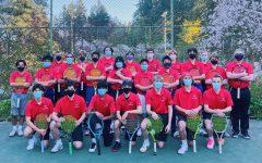 Lincoln's 2021 boys varsity tennis team.