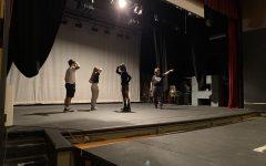 Theater teacher Jim Peerenboom teaches the new combined theater class.