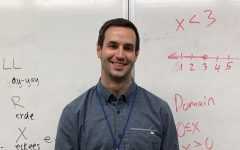 Andrew Jehle is a new math teacher at Lincoln this year. He's excited to create in-person relationships with students.